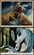 """Movie Posters:Documentary, The Animal World & Other Lot (Warner Brothers, 1956). Autographed Color Photos (2) (8"""" X 10""""). Documentary.. ... (Total: 2 Items)"""