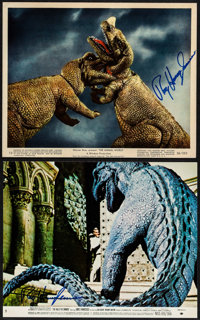 """The Animal World & Other Lot (Warner Brothers, 1956). Autographed Color Photos (2) (8"""" X 10""""). Documentary..."""