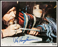"""The Golden Voyage of Sinbad & Other Lot (Columbia, 1973). Autographed Mini Lobby Card (8"""" X 10""""), Autograp..."""