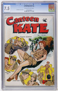 Golden Age (1938-1955):War, Canteen Kate #1 (St. John, 1952) CGC VF- 7.5 Off-white to whitepages....