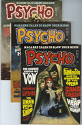 Magazines:Horror, Psycho #6-8 and 10 Group (Skywald, 1972-73) Condition: AverageVF.... (Total: 4 Comic Books)