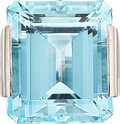 Estate Jewelry:Rings, Aquamarine, White Gold Ring The ring features ...