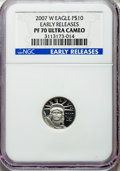 2007 Four-Piece Platinum Eagle Set, Early Releases, PR70 Ultra Cameo NGC