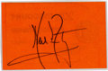 Autographs:Celebrities, Neil Armstrong Bold Signature, Laminated. ...