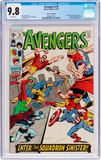 The Avengers #70 John G. Fantucchio Pedigree (Marvel, 1969) CGC NM/MT 9.8 White pages
