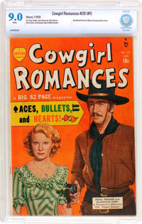 Cowgirl Romances #28 (#1) (Marvel, 1950) CBCS VF/NM 9.0 White pages