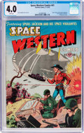 Golden Age (1938-1955):Science Fiction, Space Western #41 (Charlton, 1952) CGC VG 4.0 White pages....