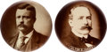 Political:Pinback Buttons (1896-present), Theodore Roosevelt and Alton B. Parker: Large Real Photo Buttons.... (Total: 2 Items)