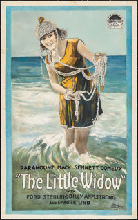 """The Little Widow (Paramount, 1919). Trimmed One Sheet (25"""" X 41""""). Comedy"""
