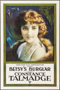 "Movie Posters:Comedy, Betsy's Burglar (Triangle, 1917). One Sheet (27"" X 41""). Comedy....."