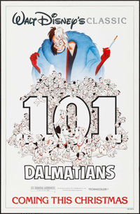 """101 Dalmatians & Other Lot (Buena Vista, R-1985). Rolled, Overall: Very Fine+. One Sheets (3) (27"""" X 41"""")..."""