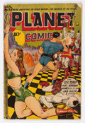Golden Age (1938-1955):Science Fiction, Planet Comics #34 (Fiction House, 1945) Condition: GD+....