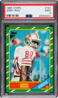 Football Cards:Singles (1970-Now), 1986 Topps Jerry Rice #161 PSA Mint 9....