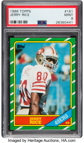 1986 Topps Jerry Rice 161 Psa Mint 9 Football Cards Singles