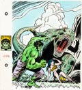 """Original Comic Art:Complete Story, Herb Trimpe Big Little Book #5782-2 """"The Incredible Hulk: Lost In Time"""" Cover Painting and Complete 11... (Total: 66 Items)"""