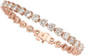 Estate Jewelry:Bracelets, Diamond, Rose Gold Bracelet. ...