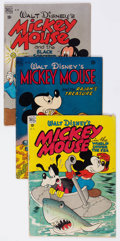 Golden Age (1938-1955):Cartoon Character, Four Color - Mickey Mouse Group of 5 (Dell, 1948-52) Condition:Average GD/VG.... (Total: 5 Comic Books)