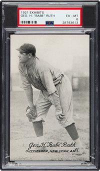 1921 Exhibits Babe Ruth PSA EX-MT 6 - Only One Higher