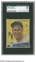 Baseball Cards:Singles (1930-1939), 1934 Goudey Lou Gehrig #37 SGC Good 30. Strong eye appeal on thishighly collectible Depression-era card....