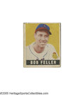 Baseball Cards:Singles (1940-1949), 1949 Leaf Bob Feller #93. A nice looking card despite wear at thecorners and imperfect registration....
