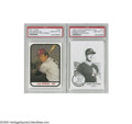 Baseball Cards:Lots, 1980's Superstars Pre-Rookie Cards PSA 10 Lot of 2. Present are1981 TCMA Cal Ripken, Jr. and 1985 Chong Modesto A's Mark M... (2 )