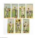 Baseball Cards:Lots, 1911 T201 Mecca Double Folders Lot of 7. Imaginative tobacco issuefeatures the following, in EX average condition: Grant/M...