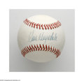 Autographs:Baseballs, Don Drysdale Single Signed Baseball. A flawless blue ink sweet spot signature on an ONL (Giamatti) ball from this legendary...