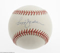 Autographs:Baseballs, Reggie Jackson Single Signed Baseball. Mr. October applies hisperfect blue ink signature to the sweet spot of this OAL (Bu...