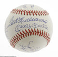 Autographs:Baseballs, 500 Home Run Club Signed Baseball. Tough to find a legitimatespecimen, and impossible to find one nicer than this 10/10 sp...