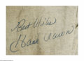 """Autographs:Others, Hank Aaron Signed Pants. Vintage pair of flannel pants (no knownattribution) are signed """"Best Wishes, Hank Aaron"""" in perfe..."""