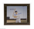 "Autographs:Photos, Mickey Mantle Signed Photograph. Fantastic glossy 8x10"" photo issigned by the Hall of Fame legend in perfect blue sharpie...."