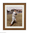 "Autographs:Photos, Ted Williams Signed Large Photograph. Spectacular color 16x20""image is signed in perfect blue sharpie. Professionally mat..."