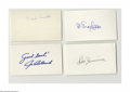 Autographs:Index Cards, Brooklyn Dodgers Signed Index Cards Lot of 100+. Thick stack of NRMT or better ink signatures feature some of the biggest s...