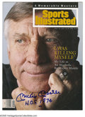 Autographs:Others, Mickey Mantle Signed Sports Illustrated Magazine. Touching cover photo was snapped to accompany a story about Mantle's alco...