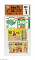 Baseball Collectibles:Others, 1940's-60's World Series Ticket Stubs Lot of 4. Three decades ofOctober glory in one lot. Featured are 1948 Game Two, 195...