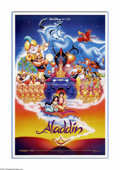 "Movie Posters:Animated, Aladdin (Buena Vista, 1992). One Sheet (27"" X 40""). The Disney musical version of the tale of Aladdin has the wily boy of th..."