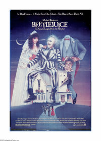"""Beetle Juice (Warner Brothers, 1988). One Sheet (27"""" X 41""""). """"I'm the ghost with the most."""" The ghos..."""