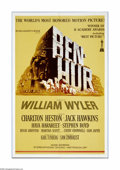 "Movie Posters:Action, Ben-Hur (MGM, R-1969). One Sheet (27"" X 41""). The epic directed byWilliam Wyler is the first of only three films to win ele..."