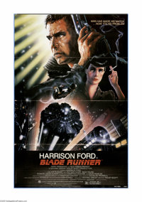 "Blade Runner (Warner Brothers, 1982). One Sheet (27"" X 41""). Harrison Ford stars in the sci-fi/drama as Rick D..."