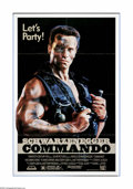 "Movie Posters:Action, Commando (20th Century Fox, 1985). One Sheet (27"" X 41""). This ultimate revenge flick stars the one and only Arnold Schwarze..."