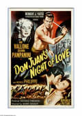 "Movie Posters:Adventure, Don Juan's Night of Love (Republic, 1955). One Sheet (27"" X 41"").Raf Vallone plays a mercenary who fights the dictatorial S..."