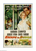 "Movie Posters:Adventure, Escape to Burma (RKO, 1955). One Sheet (27"" X 41""). In the Burmesejungle, Robert Ryan is on the run from a murder charge an..."