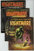 Bronze Age (1970-1979):Horror, Nightmare Group (Skywald, 1972-74) Condition: Average VF....(Total: 6 Comic Books)