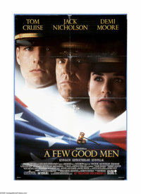 "Few Good Men, A (Columbia, 1992). Advance One Sheet (27"" X 40""). Rob Reiner directed the modern-day, all-star..."
