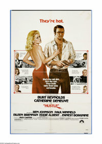 "Hustle (Paramount, 1975). One Sheet (27"" X 41""). Burt Reynolds stars as a police detective investigating the m..."