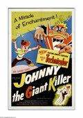 "Movie Posters:Animated, Johnny the Giant Killer (Lippert Pictures, 1953). One Sheet (27"" X41""). In this French animated film, Johnny tries to fight..."