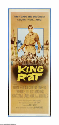"King Rat (Columbia, 1965). Insert (14"" X 36""). George Segal lies and cheats his way to the top of the food cha..."