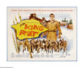 """Movie Posters:War, King Rat (Columbia, 1965). Half Sheet (22"""" X 28""""). George Segalstars in this study of the effects of captivity on prisoners..."""