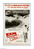"Movie Posters:Foreign, A Lesson in Love (Janus Films, 1960). One Sheet (27"" X 41""). This Ingmar Bergman film was released in Sweden in 1954. Six ye..."
