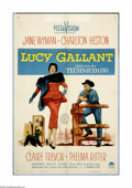 "Movie Posters:Drama, Lucy Gallant (Paramount, 1955). One Sheet (27"" X 41""). Jane Wymanmoves to Texas from the East during the oil boom to get ma..."